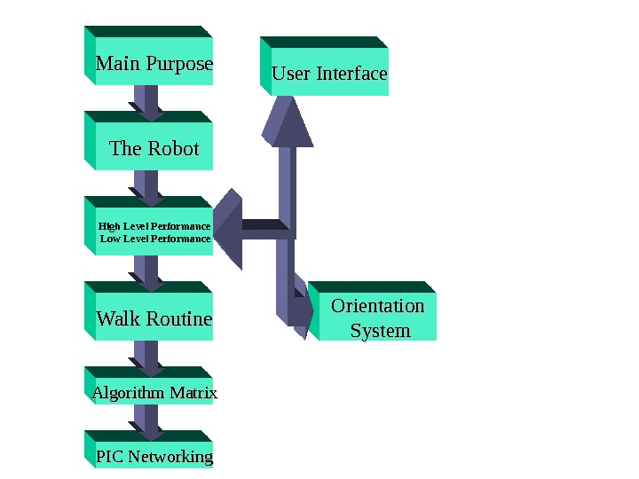 Orientation  System PIC Networking. Algorithm Matrix Walk Routine High Level Performance  Low Level Performance