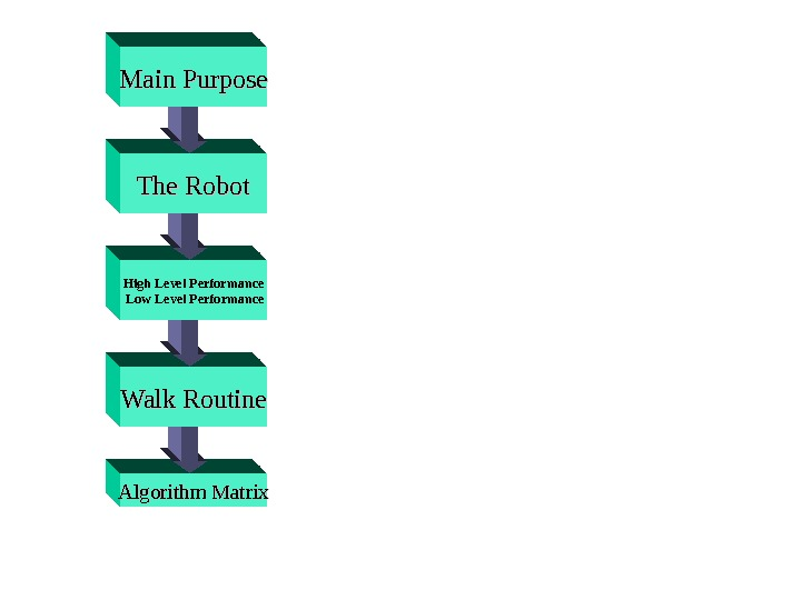 Algorithm Matrix Walk Routine High Level Performance  Low Level Performance The Robot. Main Purpose