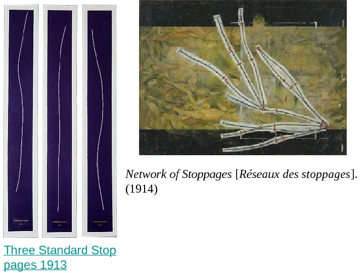 Three Standard Stop pages 1913  Network of Stoppages [ Réseaux des stoppages ].  (1914)
