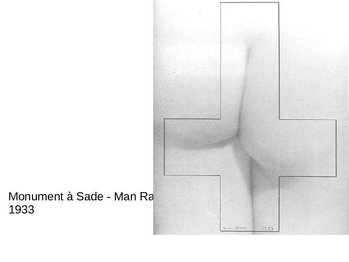 Monument à Sade - Man Ray 1933