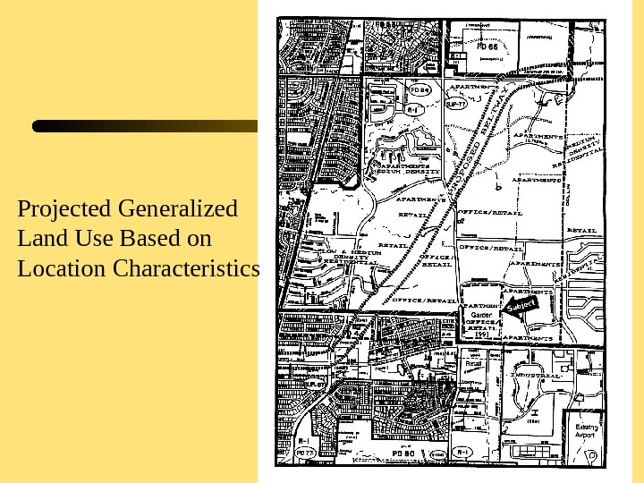 20 Projected Generalized Land Use Based on Location Characteristics