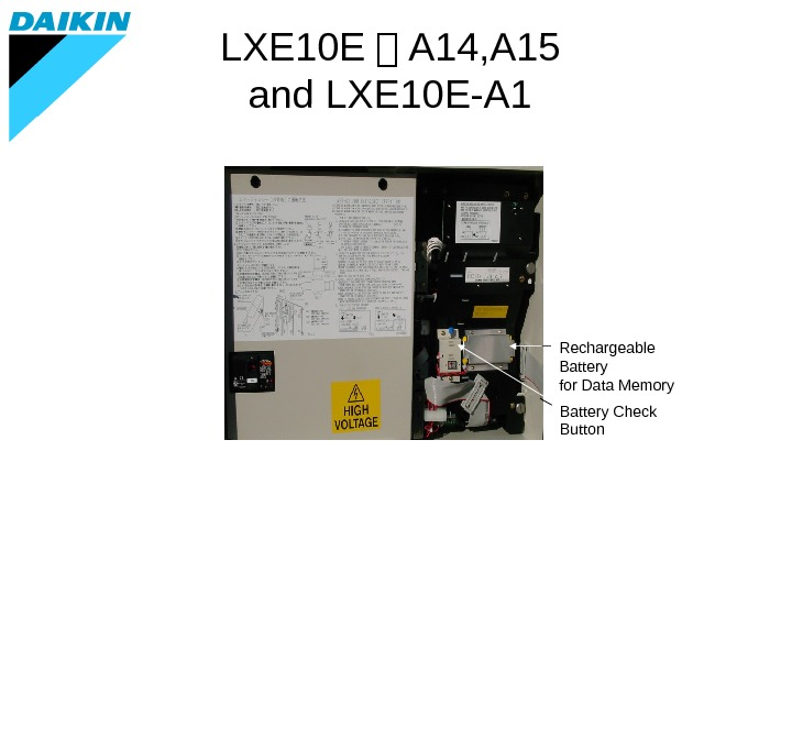 Rechargeable Battery for Data Memory Battery Check Button. LXE 10 E - A 14, A 15