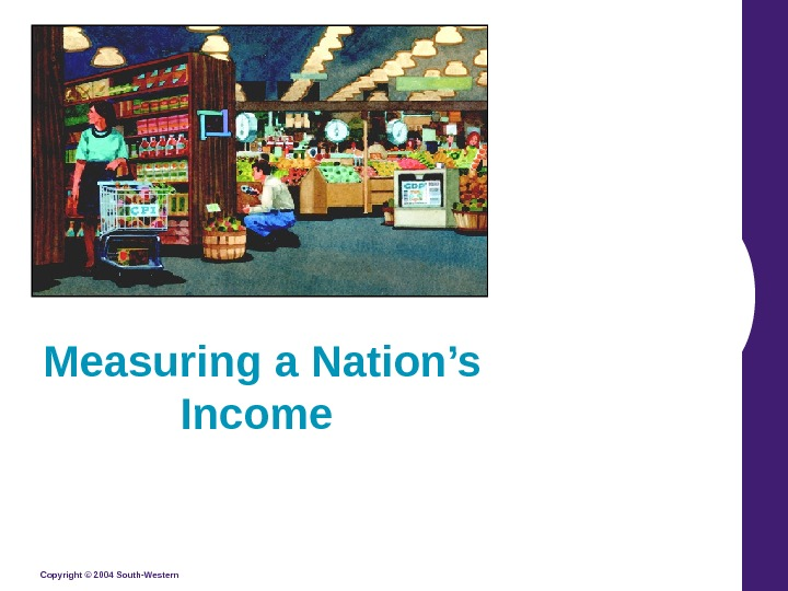 Copyright © 2004 South-Western Measuring a Nation's Income
