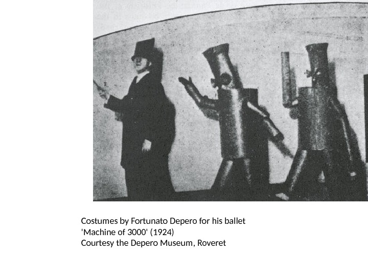Costumes by Fortunato Depero for his ballet 'Machine of 3000' (1924) Courtesy the Depero Museum, Roveret