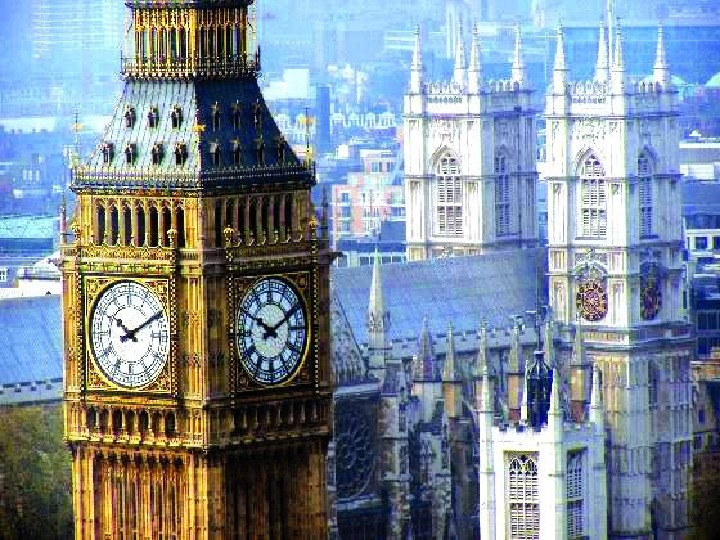 Big Ben is the name of the huge clock in one of the tall towers