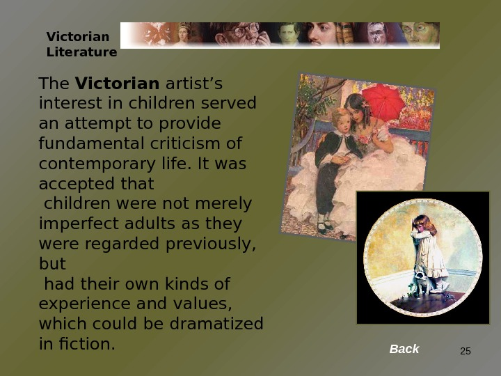The Victorian artist's interest in children served an attempt to provide fundamental criticism of contemporary life.