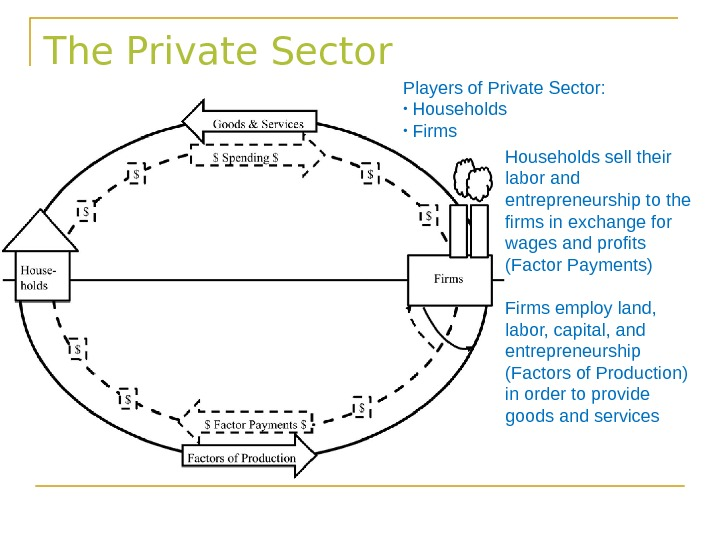The Private Sector Players of Private Sector:  •  Households  •  Firms Households
