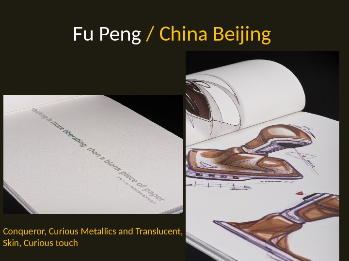 Fu Peng / China Beijing Conqueror, Curious Metallics and Translucent,  Skin, Curious touch