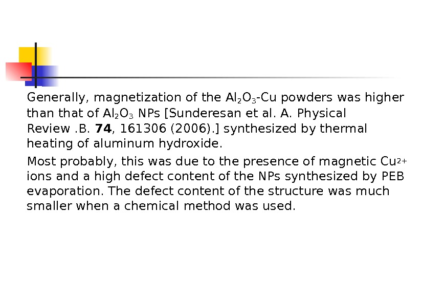 Generally, magnetization of the Al 2 O 3 -Cu powders was higher than that of Al