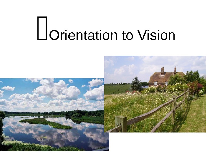 Orientation to Vision