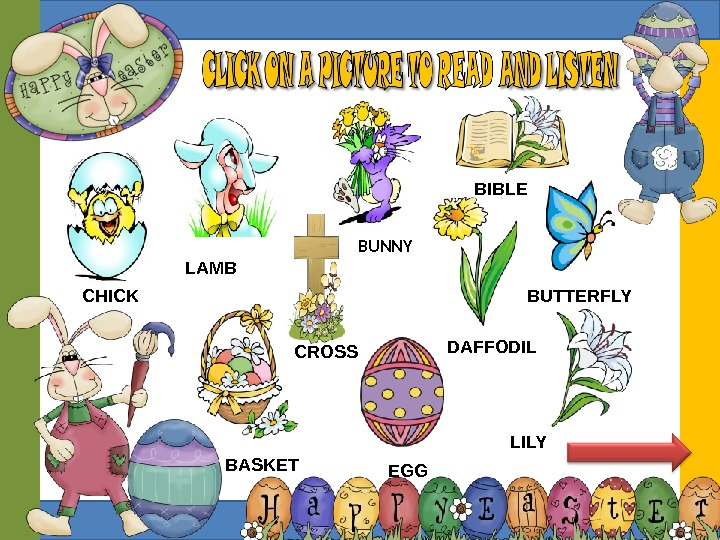 CROSSCHICK BIBLE LAMB BUNNY DAFFODIL BUTTERFLY BASKET  EGG  LILY