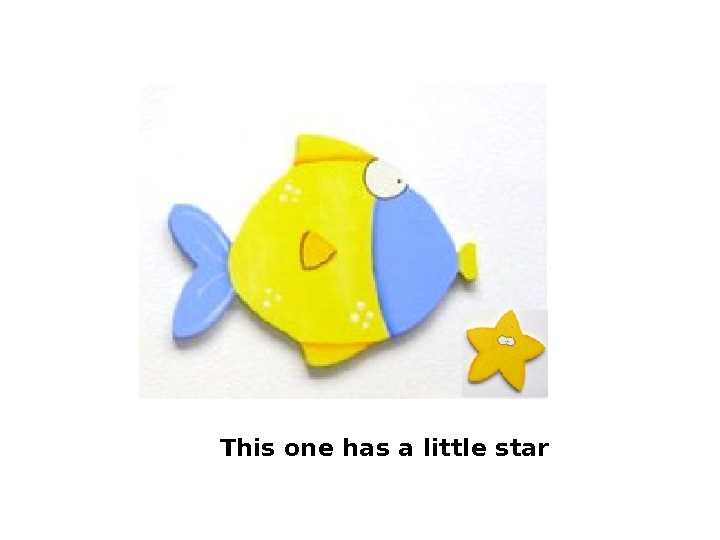 This one has a little star