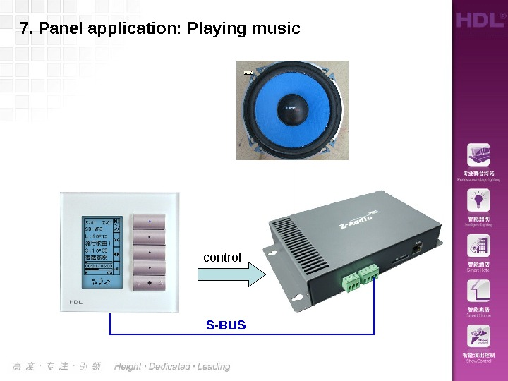 7. Panel application: Playing music control S-BUS