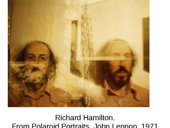 Richard Hamilton. From Polaroid Portraits, John Lennon, 1971