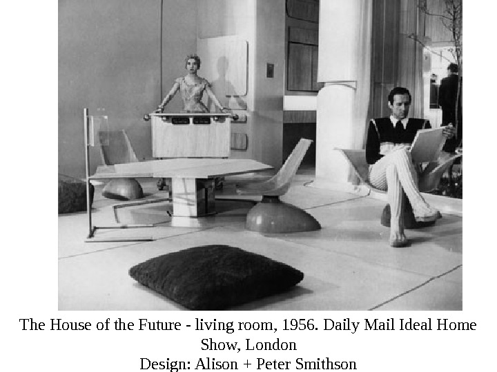 The House of the Future - living room, 1956. Daily Mail Ideal Home Show, London Design: