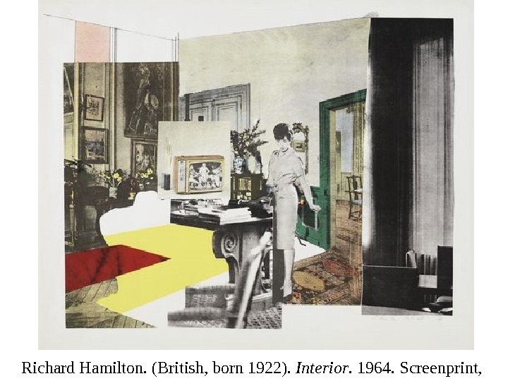 Richard Hamilton. (British, born 1922).  Interior. 1964. Screenprint,