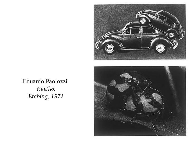 Eduardo Paolozzi Beetles Etching, 1971