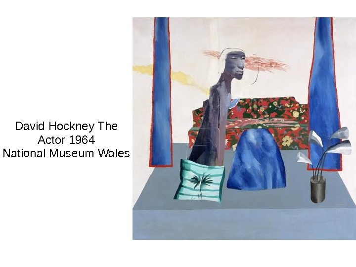 David Hockney The Actor 1964 National Museum Wales