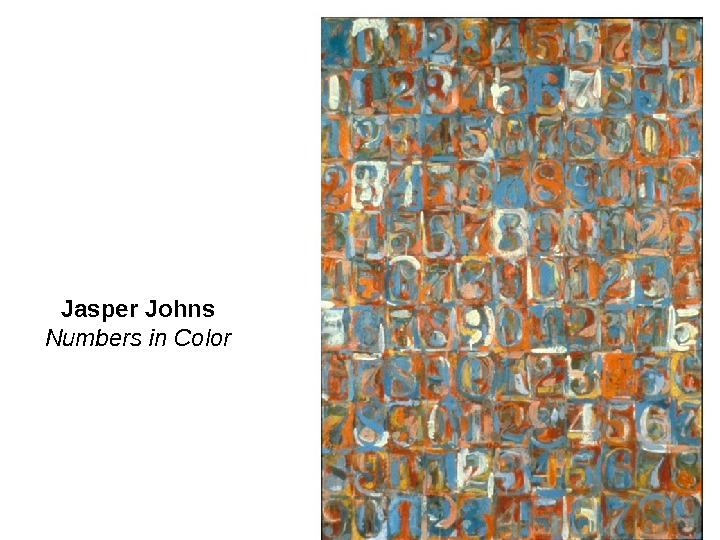 Jasper Johns Numbers in Color
