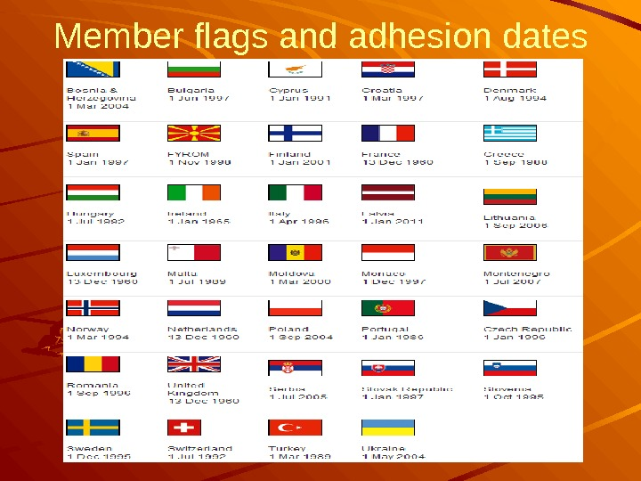 Member flags and adhesion dates