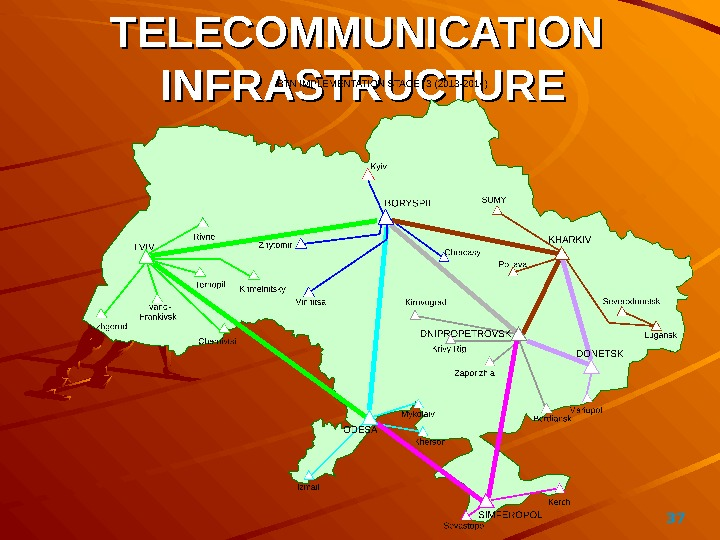 37TELECOMMUNICATION  INFRASTRUCTURE