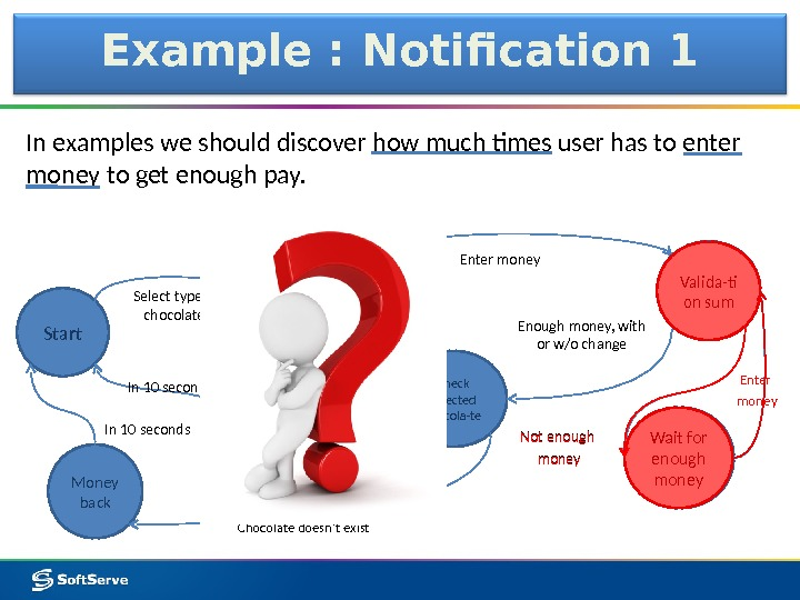 Example : Notification 1 In examples we should discover how much times user has to enter