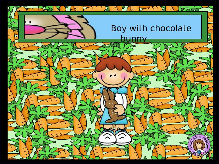 Boy with chocolate bunny