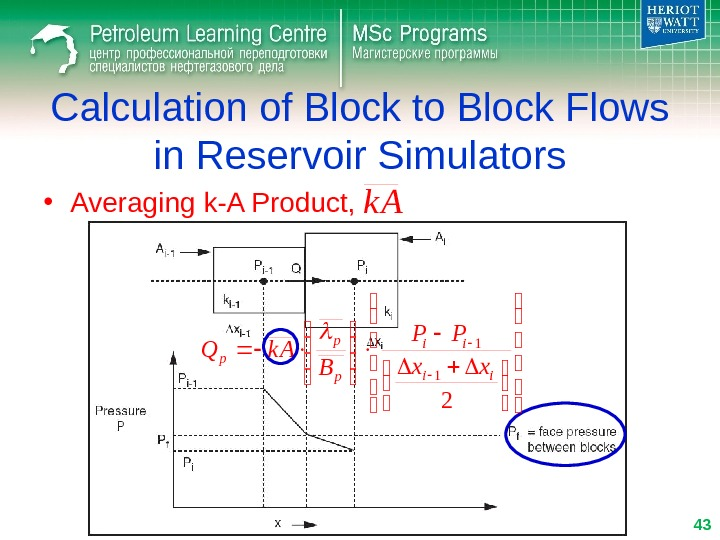 Calculation of Block to Block Flows in Reservoir Simulators • Averaging k-A Product, k A