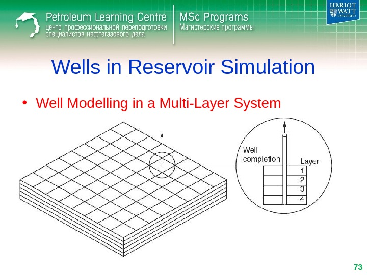 Wells in Reservoir Simulation • Well Modelling in a Multi-Layer System 73