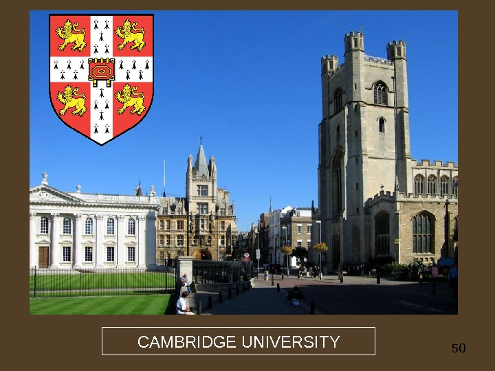 50 CAMBRIDGE UNIVERSITY