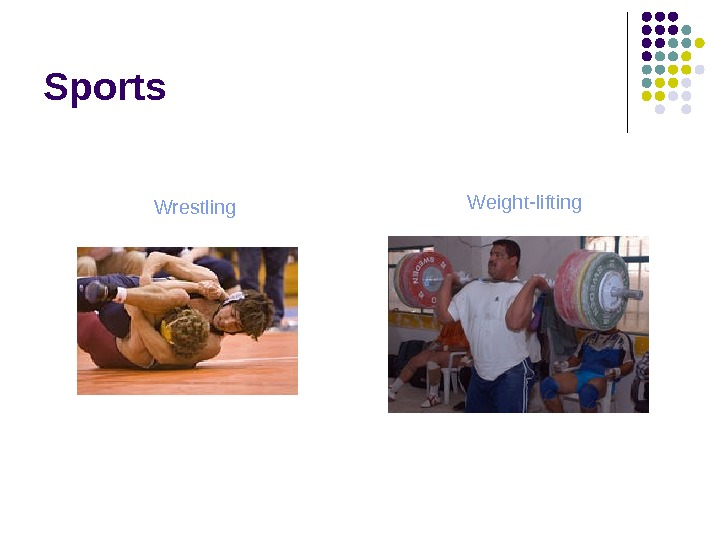 Sports Wrestling Weight-lifting