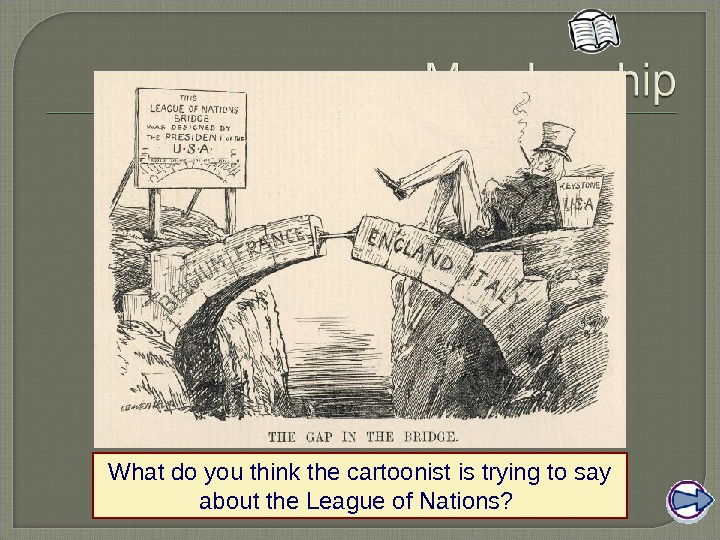 What do you think the cartoonist is trying to say about the League of Nations?