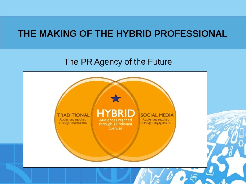 THE MAKING OF THE HYBRID PROFESSIONAL The PR Agency of the Future
