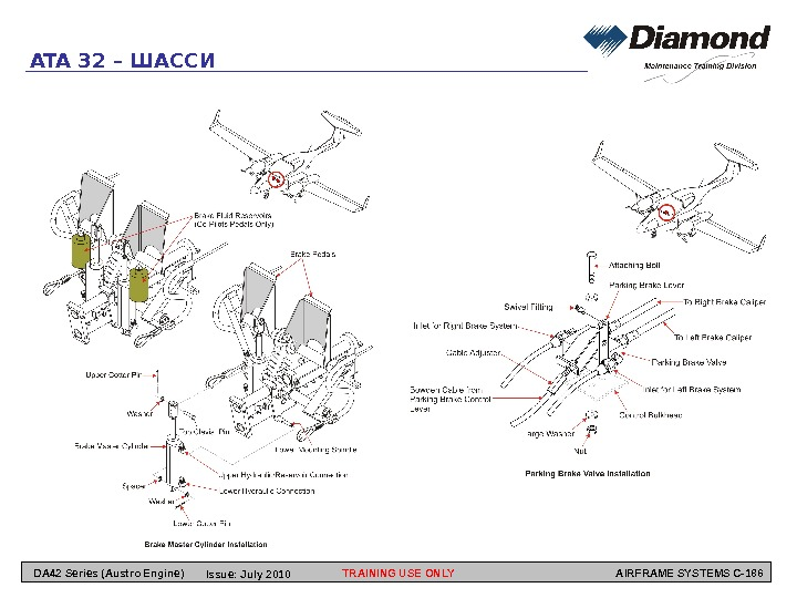 TRAINING USE ONLY AIRFRAME SYSTEMS C-186 ATA 32 – ШАССИ DA 42 Series (Austro
