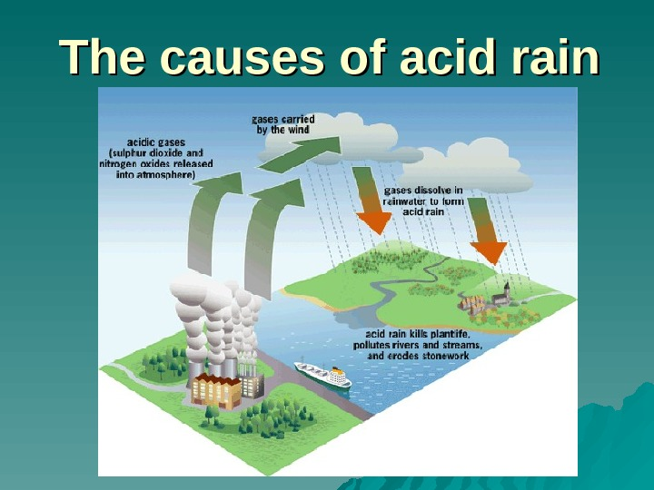 The causes of acid rain