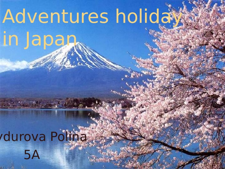 Adventures holiday in Japan Shaydurova Polina 5 A