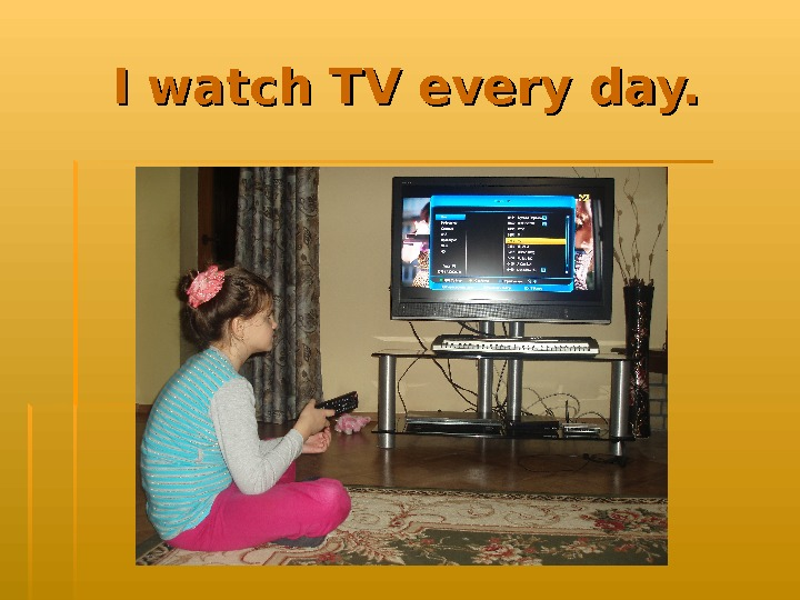 I watch TV every day.