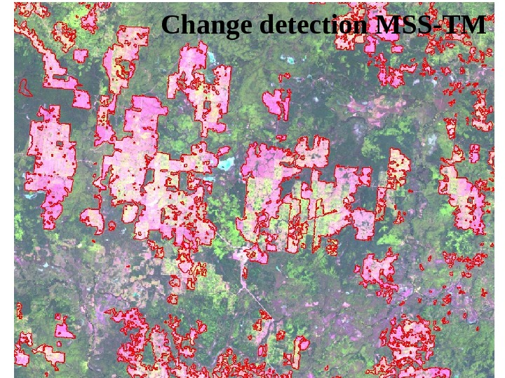 Change detection MSS-TM