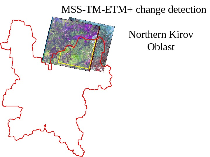 MSS-TM-ETM+ change detection Northern Kirov Oblast