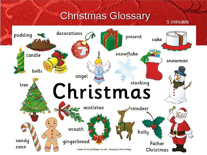 Christmas Glossary 5 minutes