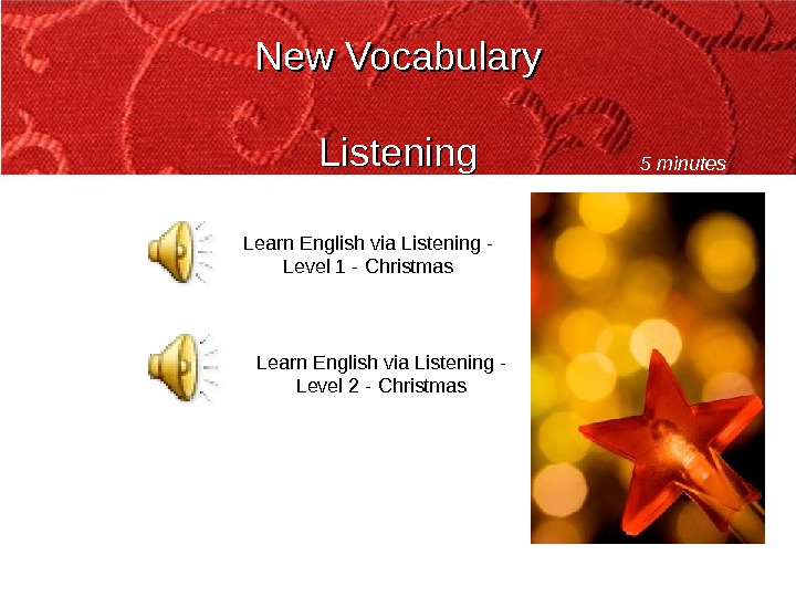 New Vocabulary Listening Learn English via Listening - Level 1 - Christmas Learn English via Listening