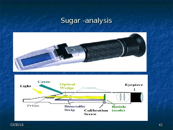 Sugar -analysis 4141 03/30/16