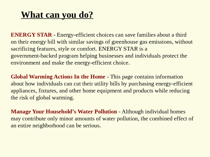 ENERGY STAR - Energy-efficient choices can save families about a third on their energy bill with