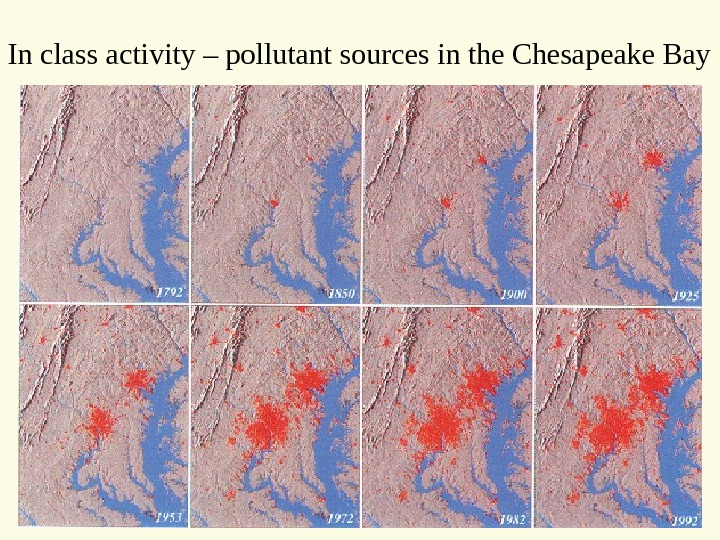In class activity – pollutant sources in the Chesapeake Bay