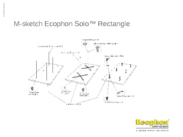 M-sketch Ecophon Solo ™ Rectangle