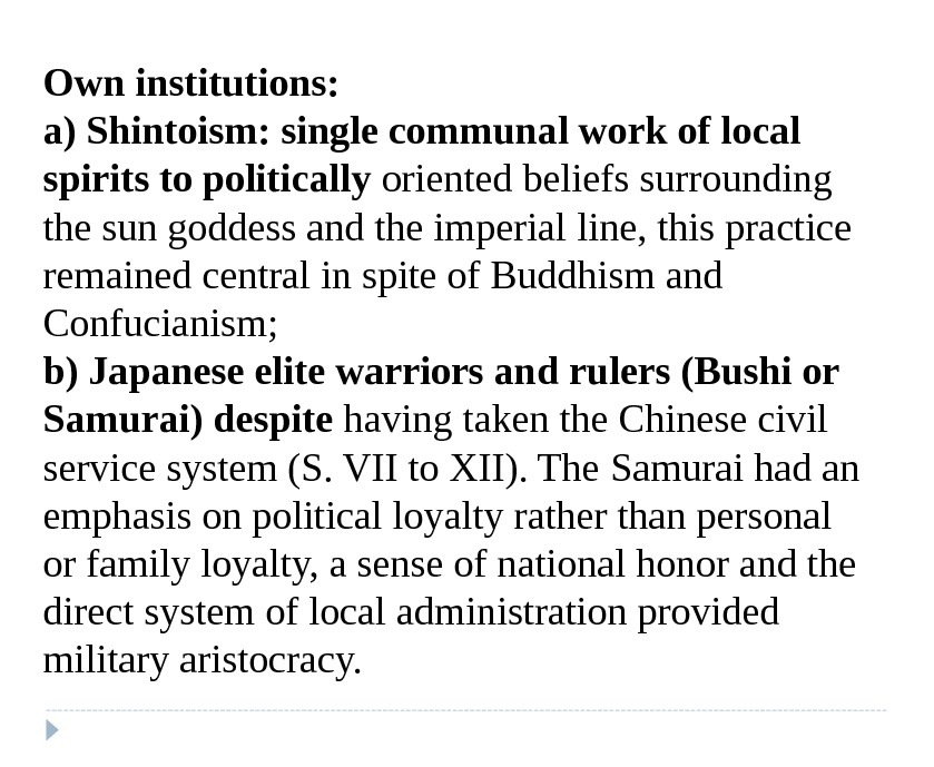 Own institutions: a) Shintoism: single communal work of local spirits to politically  oriented beliefs surrounding