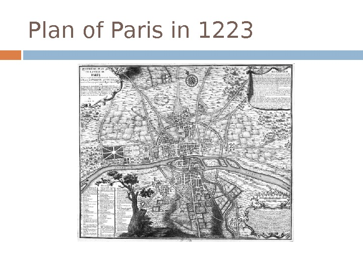 Plan of Paris in 1223