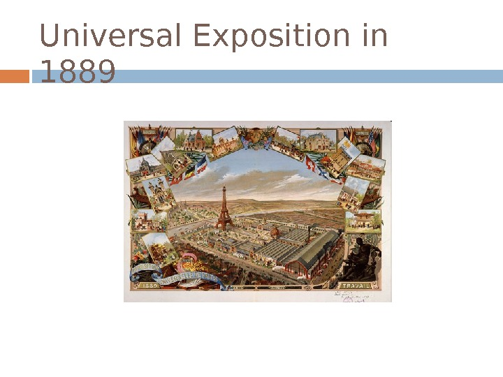 Universal Exposition in 1889