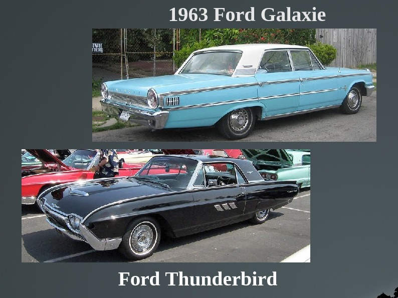 1963 Ford Galaxie Ford Thunderbird