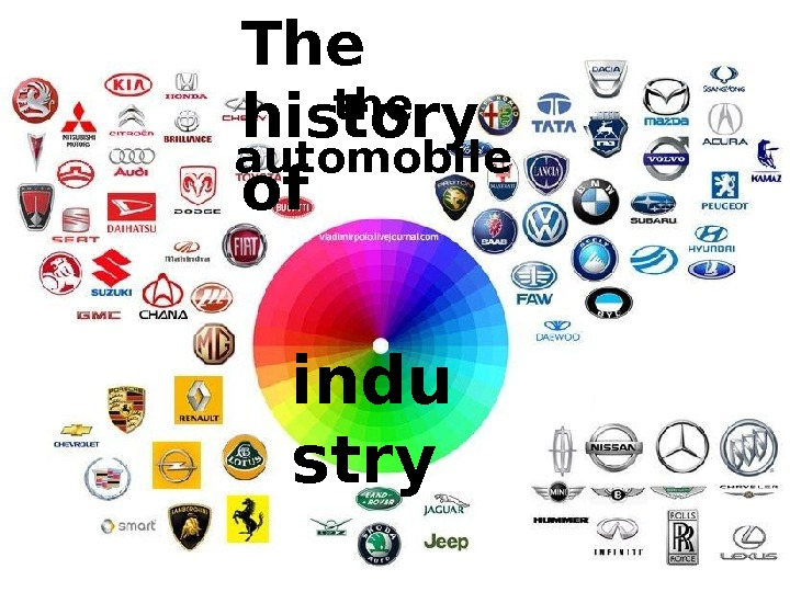 the automobile The history of indu stry